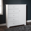 Vito Door Chest - 5 Drawers, Pure White - SS-3150045