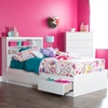 Vito Twin Mates Bed - 3 Drawers, Pure White - SS-3150212