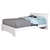 Vito Queen Platform Bed - Panel Headboard, Pure White - SS-3150282