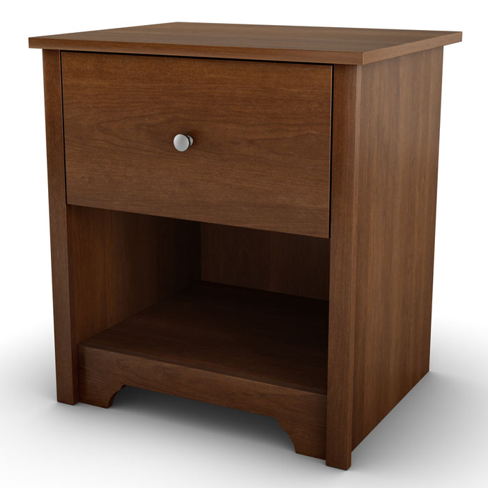Vito Contemporary Nightstand in Cherry