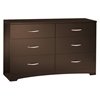 Step One Chocolate Dresser with 6 Drawers - SS-3159010