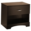 Step One Chocolate Nightstand with Open Shelf - SS-3159062