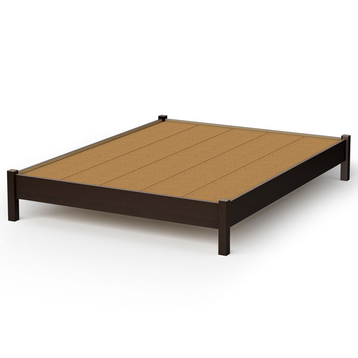 Step One Contemporary Platform Bed in Chocolate - SS-3159