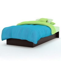 Libra Low Profile Platform Bed in Chocolate