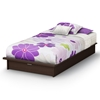 Libra Chocolate Platform Bed with Drawer - SS-3159245