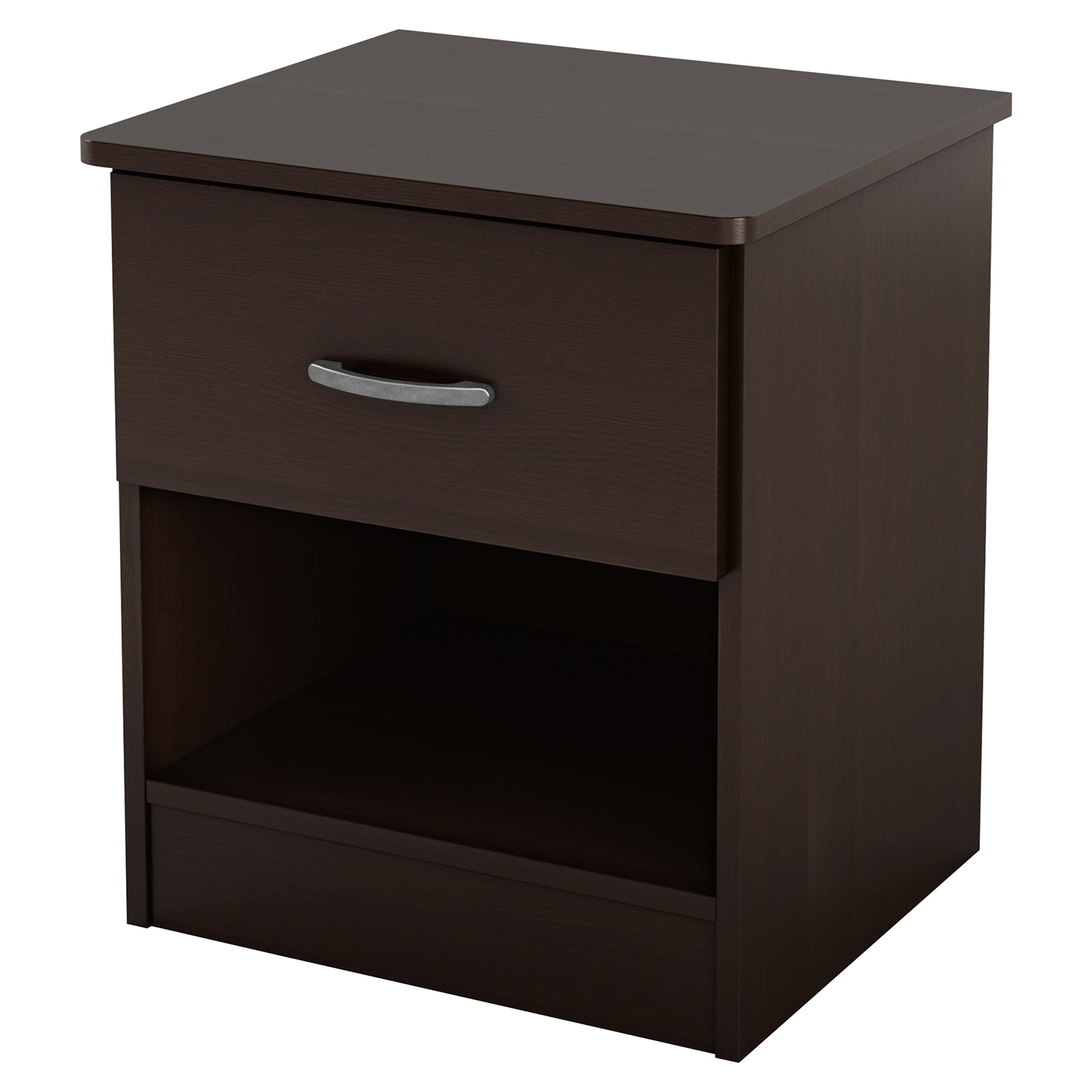 Libra Nightstand - 1 Drawer, Chocolate - SS-3159061