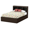 Step One Full Bookcase Headboard - 3 Compartments, Chocolate - SS-3159079