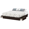 Step One King Platform Bed - 2 Drawers, Chocolate - SS-3159237