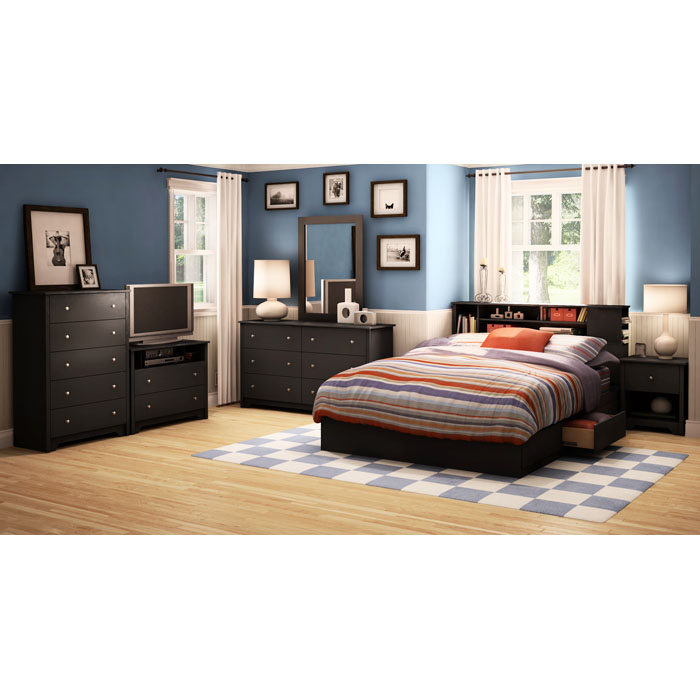 Vito Queen Mate's Bed in Black - SS-3170210