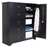 Vito Door Chest - 5 Drawers, Pure Black - SS-3170045