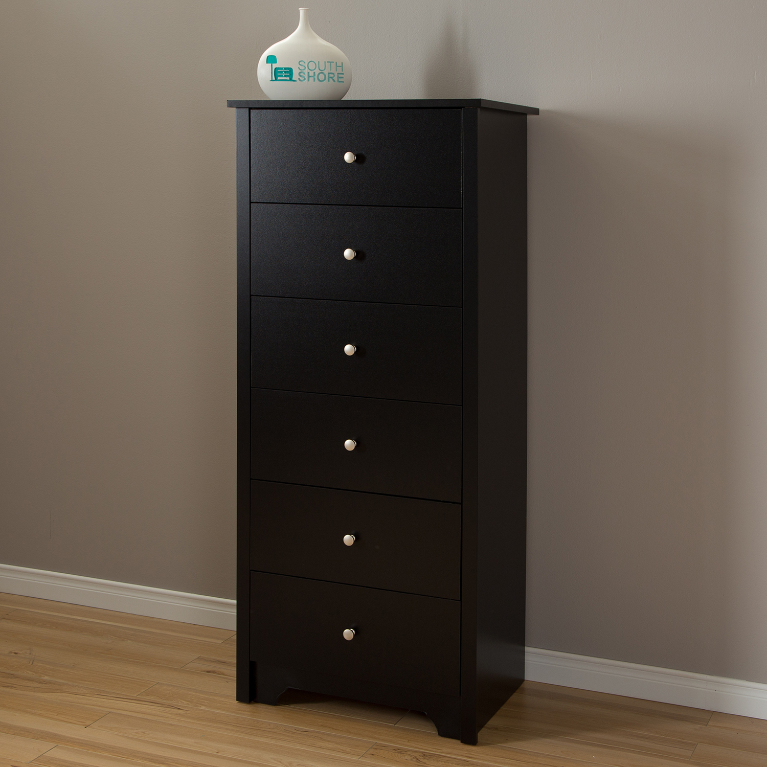 Vito 6 Drawers Chest - Pure Black - SS-3170066