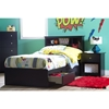 Vito Twin Bookcase Headboard - Pure Black - SS-3170098