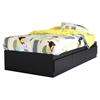 Vito Twin Mates Bed - 3 Drawers, Pure Black - SS-3170212