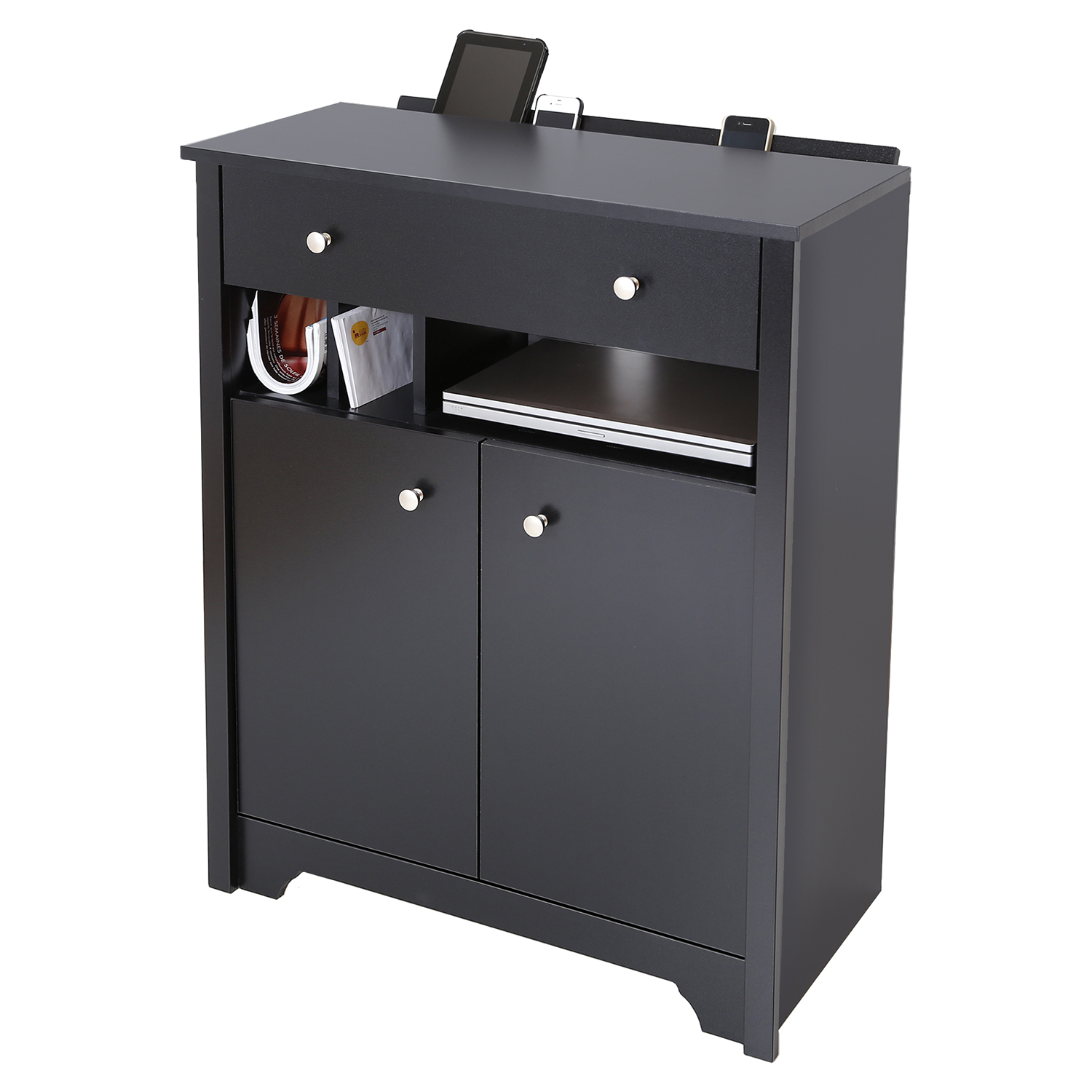 Vito Charging Station Cabinet - Pure Black - SS-3170790