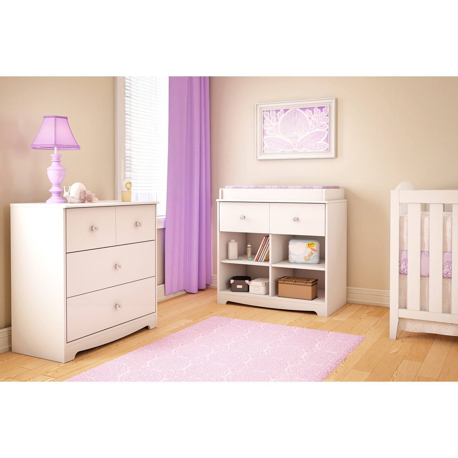 Little Jewel Changing Table - Pure White - SS-3180337