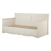 Summer Breeze Twin Daybed - 3 Drawers, White Wash - SS-3210189