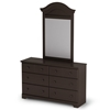 Summer Breeze Chocolate Dresser with 6 Drawers - SS-3219027