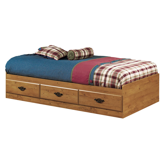 Prairie Twin Mate's Bed in Country Pine