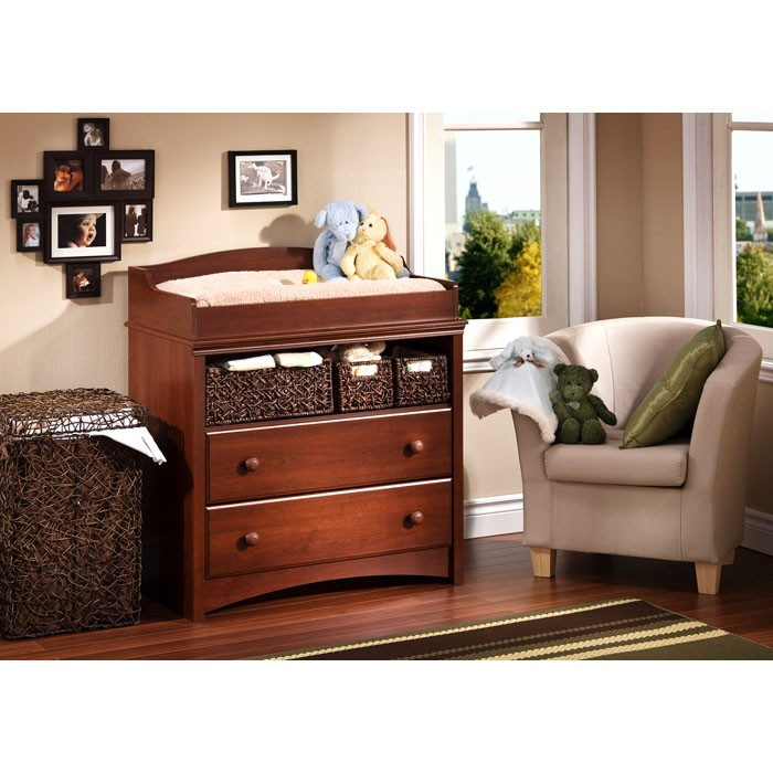 Sweet Morning Changing Table in Royal Cherry - SS-3246331