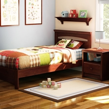 Sweet Morning Bedroom Set with Twin Bed in Royal Cherry