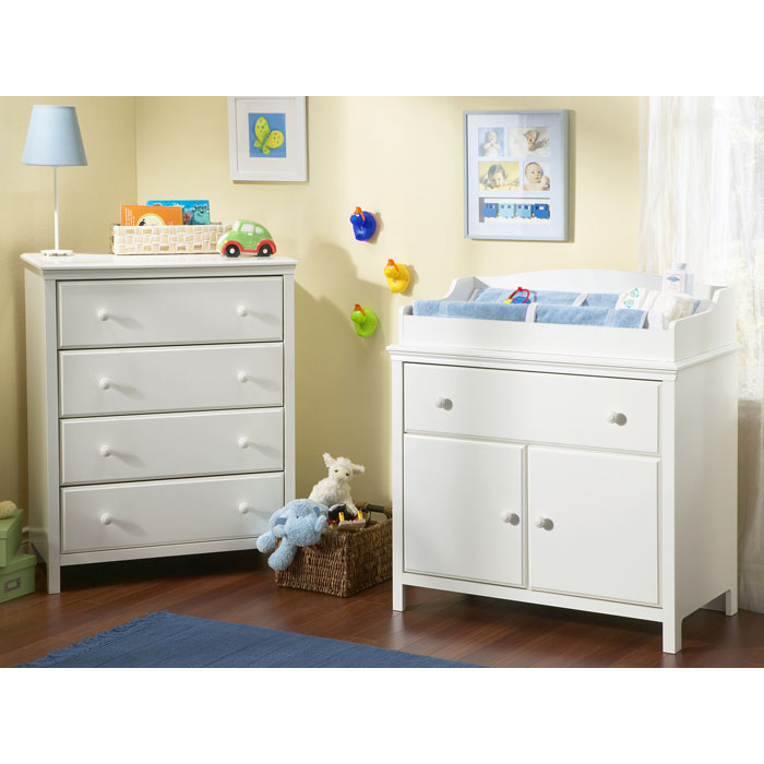 Cotton Candy White 4-Drawer Chest - SS-3250034