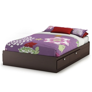 Cacao Modern Full Mates Bed