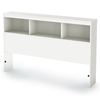 Sparkling Full Bookcase Headboard in Pure White - SS-3260093