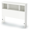 Sparkling Twin Bookcase Headboard in Pure White - SS-3260098
