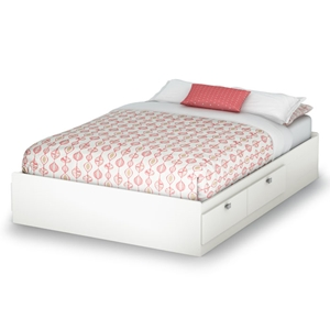 Sparkling Full Mates Bed in Pure White