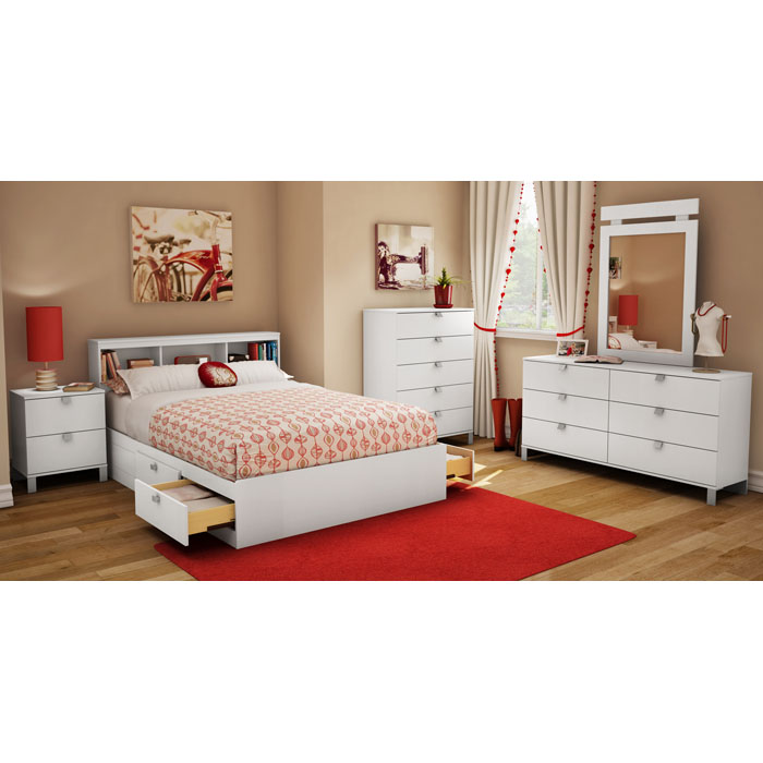 Sparkling 5-Drawer Chest in Pure White - SS-3260035
