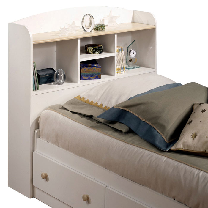 Summertime White Twin Bookcase Headboard - SS-3263097