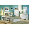 Summertime White Dresser with Natural Maple Top - SS-3263027