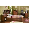 Jumper Twin Size Bookcase Bed in Classic Cherry - SS-3268212-3268096