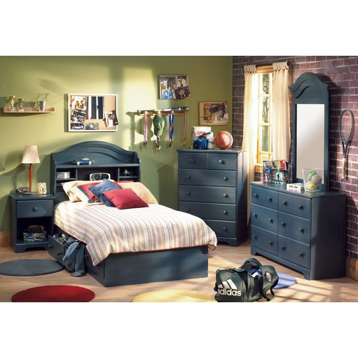 summer breeze blueberry bedroom set with twin mate 39 s bed