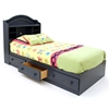 Summer Breeze Blueberry Bedroom Set with Twin Mate's Bed - SS-3294-4PC