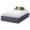 Summer Breeze Full Mates Bed - 3 Drawers, Blueberry - SS-3294211
