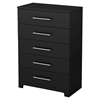 Primo 5 Drawers Chest - Pure Black - SS-3307035