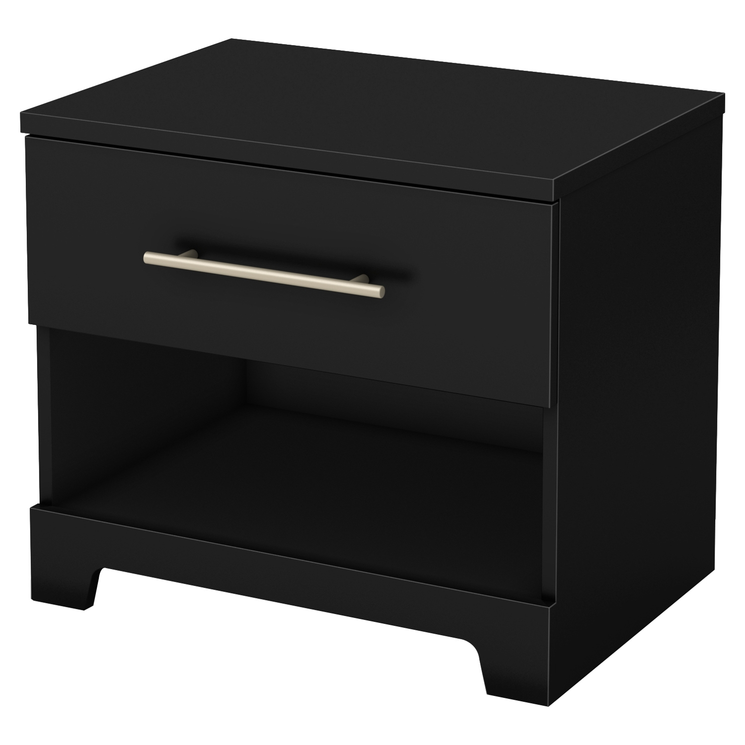 Primo 1 Drawer Nightstand - Pure Black - SS-3307062