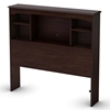 Willow Bookcase Headboard in Havana Brown - SS-3339098