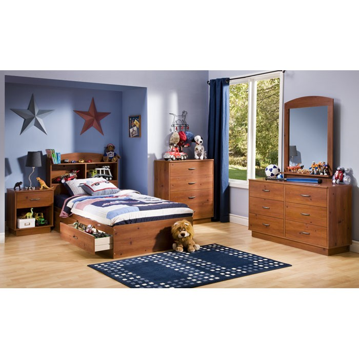 Logik 4 Piece Bedroom Set in Sunny Pine - SS-3342-4PC