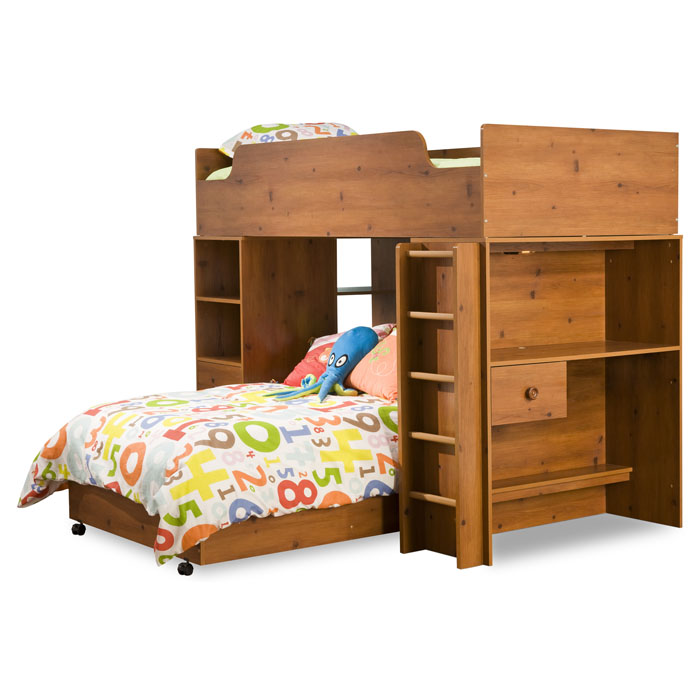 Logik Twin Loft Bedroom Set in Sunny Pine - SS-3342A4
