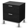 Flexible Black Oak 2-Drawer Nightstand - SS-3347060