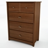 Willow Cherry Bedroom Chest with 4 Drawers - SS-3356034