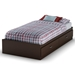 Logik Chocolate Twin Mate's Bed with 2 Drawers - SS-3359213