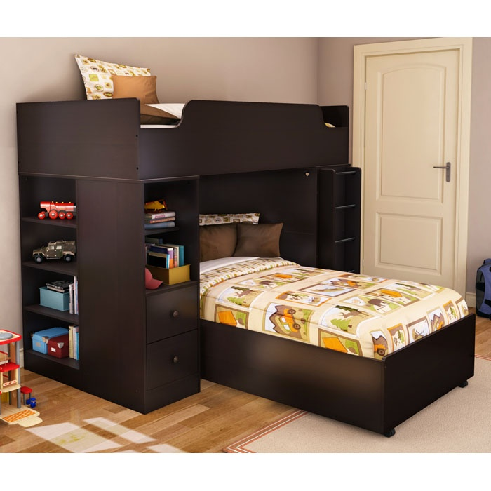 Logik Twin Loft Bedroom Set in Chocolate - SS-3359A4