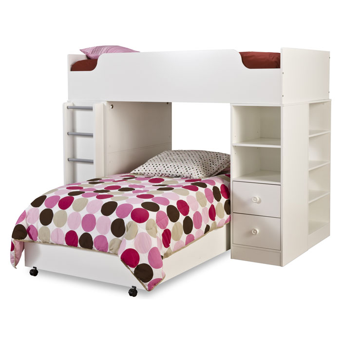 logik twin loft bedroom set in white dcg stores