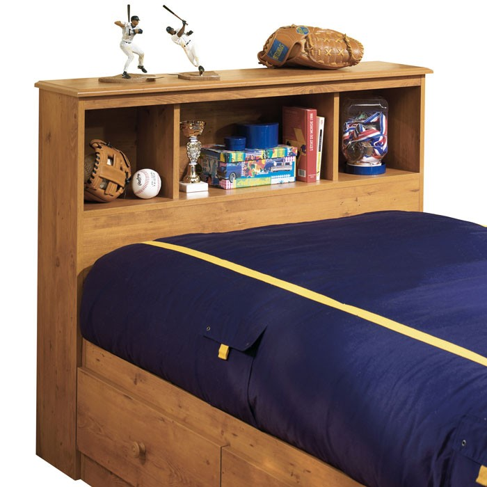 Little Treasures Country Pine Bookcase Headboard - SS-3432098