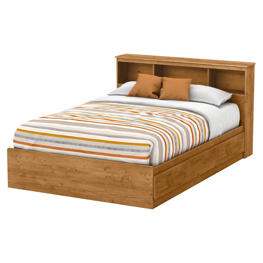 Little Treasures Full Bookcase Headboard Country Pine