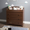 Cotton Candy Changing Table - 3 Drawers, Sumptuous Cherry - SS-3456330