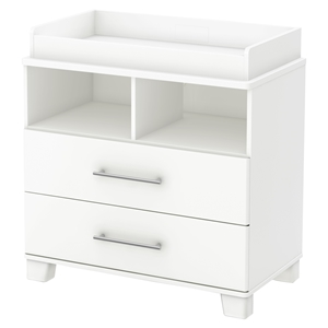 Cuddly Changing Table - Removable Changing Station, Pure White